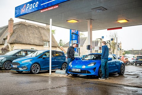 Alpine Fiesta ST fuel station