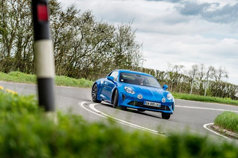 Alpine A110 front drift