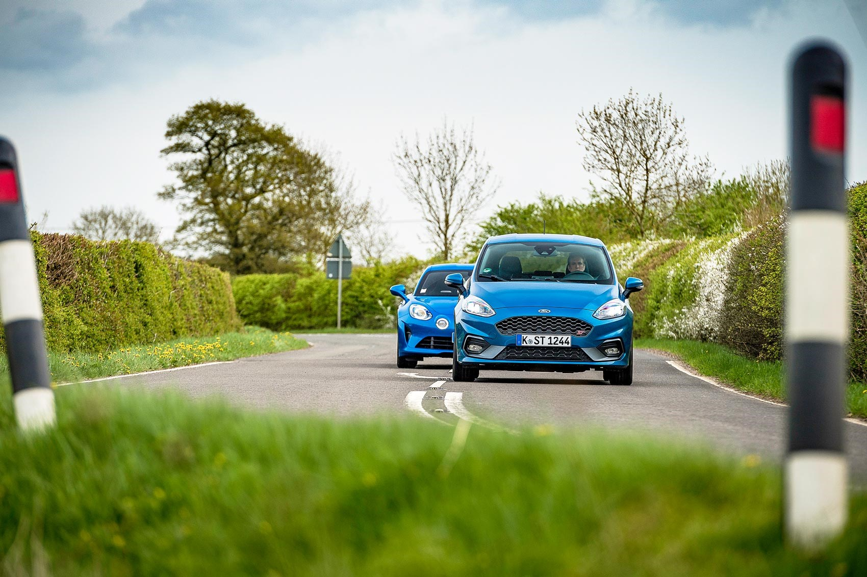 Alpine A110 and Ford Fiesta ST twin test review | CAR Magazine