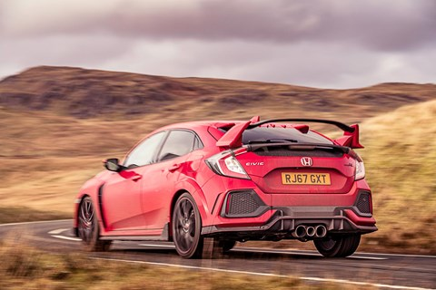 Honda Civic Type R rear cornering