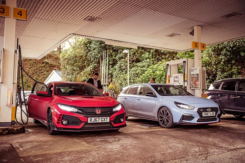 Honda Civic Type R i30N fuel