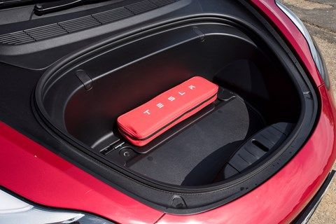 Tesla Model 3 front boot, or 'front' (aka 'frunk' for front trunk!)