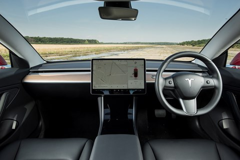 Tesla Model 3 interior: a simple, unadorned cabin - it's very pared-back