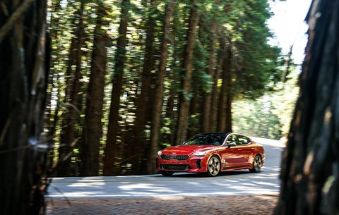 Kia Stinger on some of the great Hollywood car chase roads