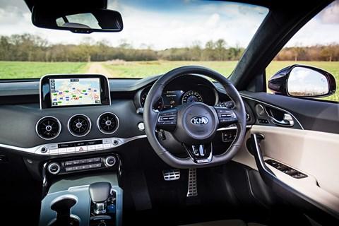 Kia Stinger GT-S interior and cabin