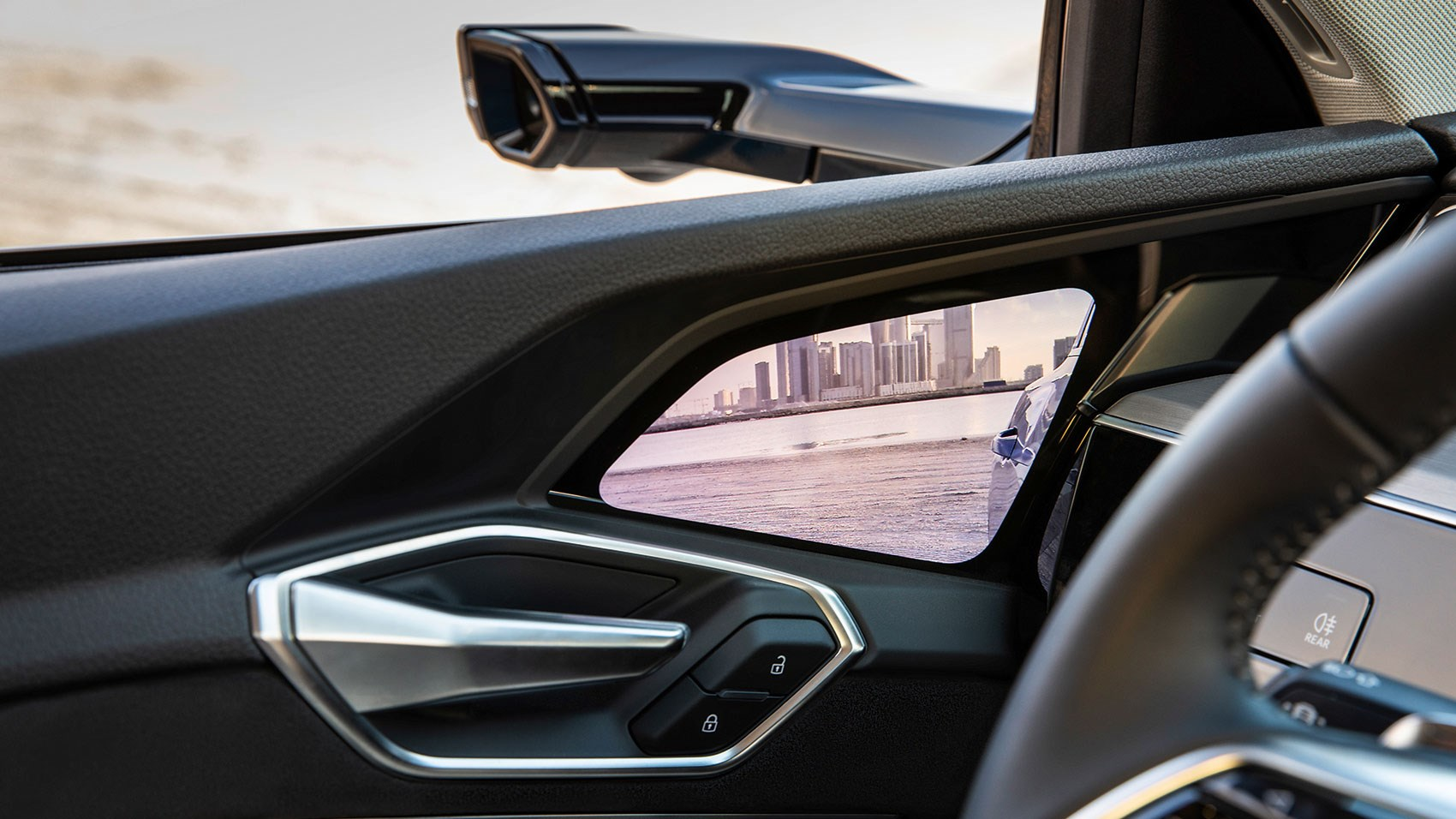 Audi e-tron door mirror