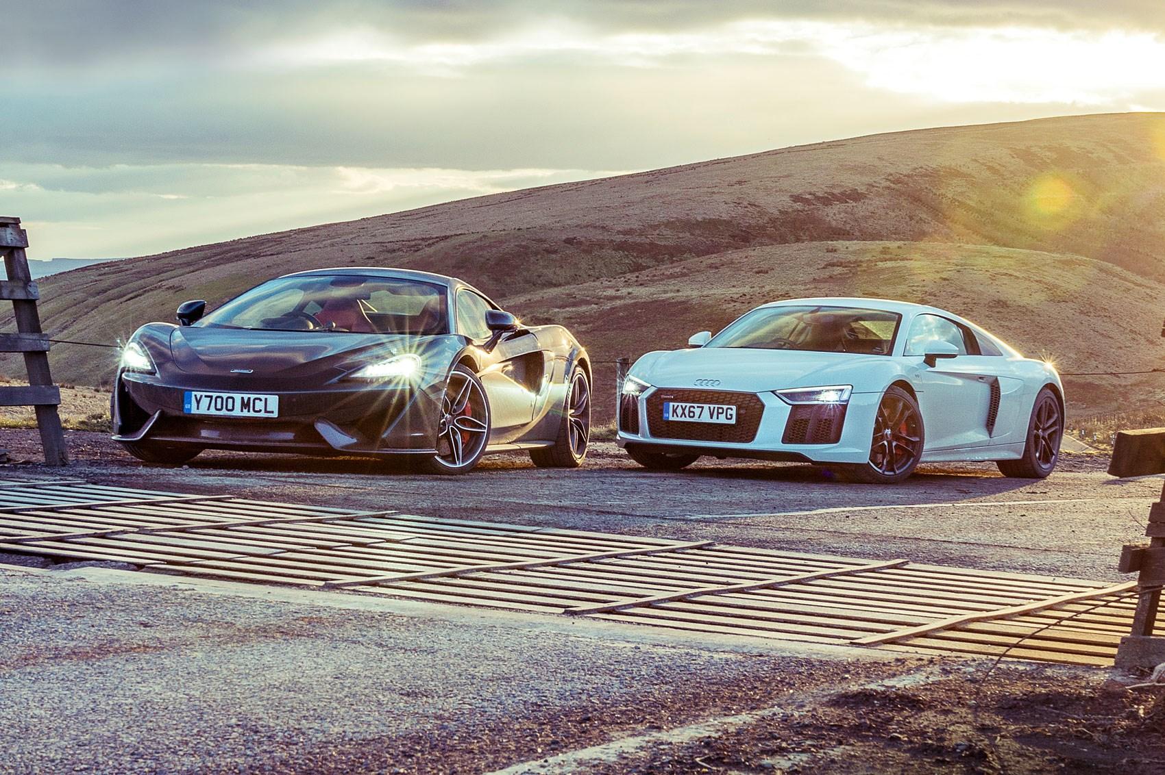 into the light: audi r8 rws vs mclaren 570s twin test review | car