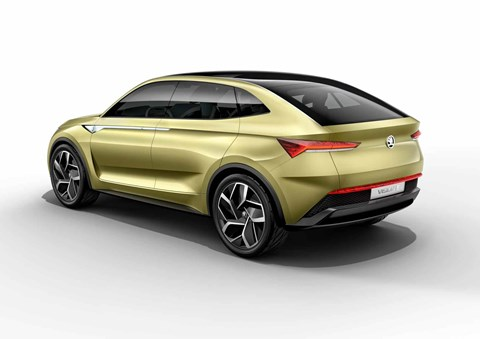 Skoda's first electric car: the Vision E - and there'll be an e-RS performance spec too