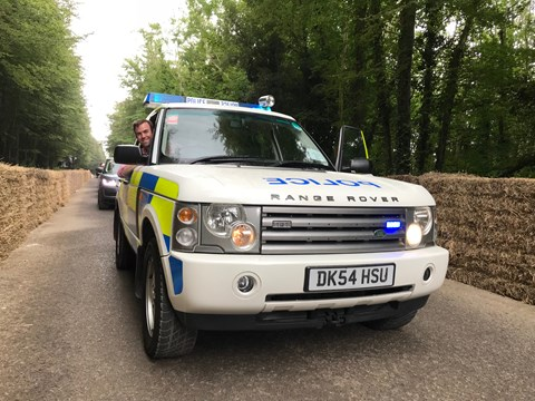 Tim Pollard Range Rover police car
