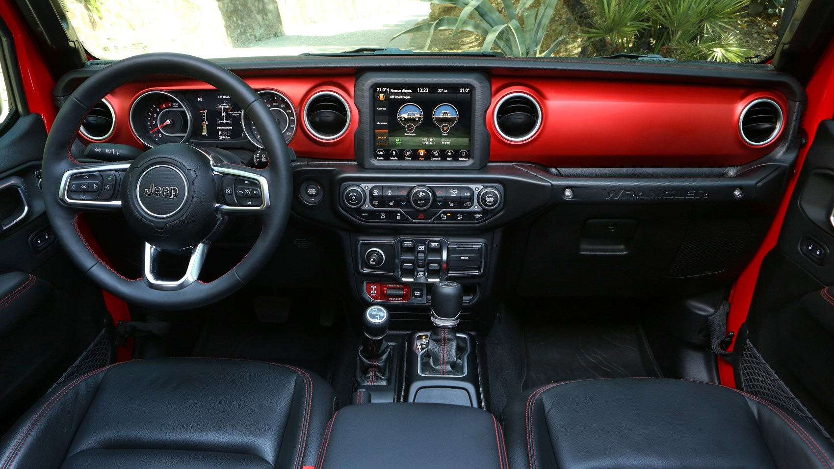 Wrangler interior