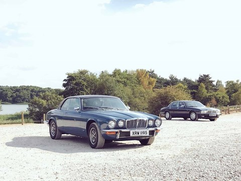 The Jaguar XJC (left) and the Jaguar XJ40 (right)