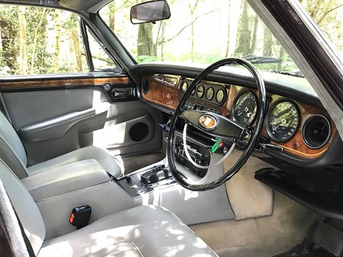 Inside the Queen Mother's Jaguar XJ12 interior: a bit special