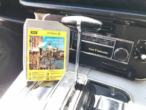 An eight-track stereo in the Queen Mother's Jaguar XJ