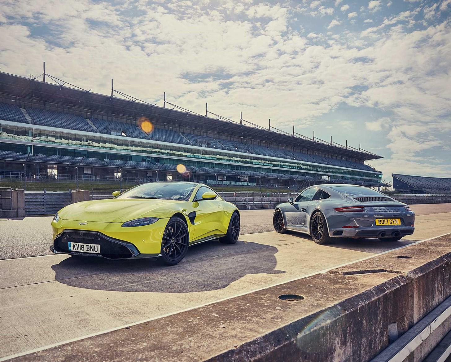 Aston Martin Vantage Vs Porsche 911 Twin Test Review Car Magazine