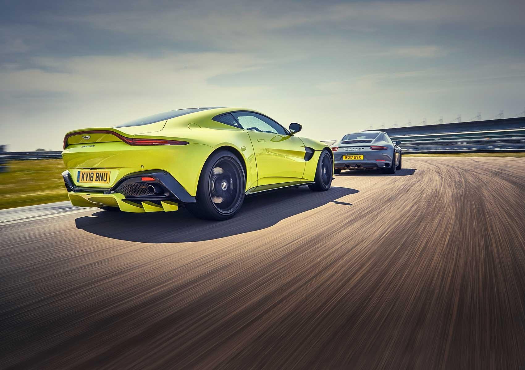 Aston Martin Vantage vs Porsche 911 twin test review | CAR