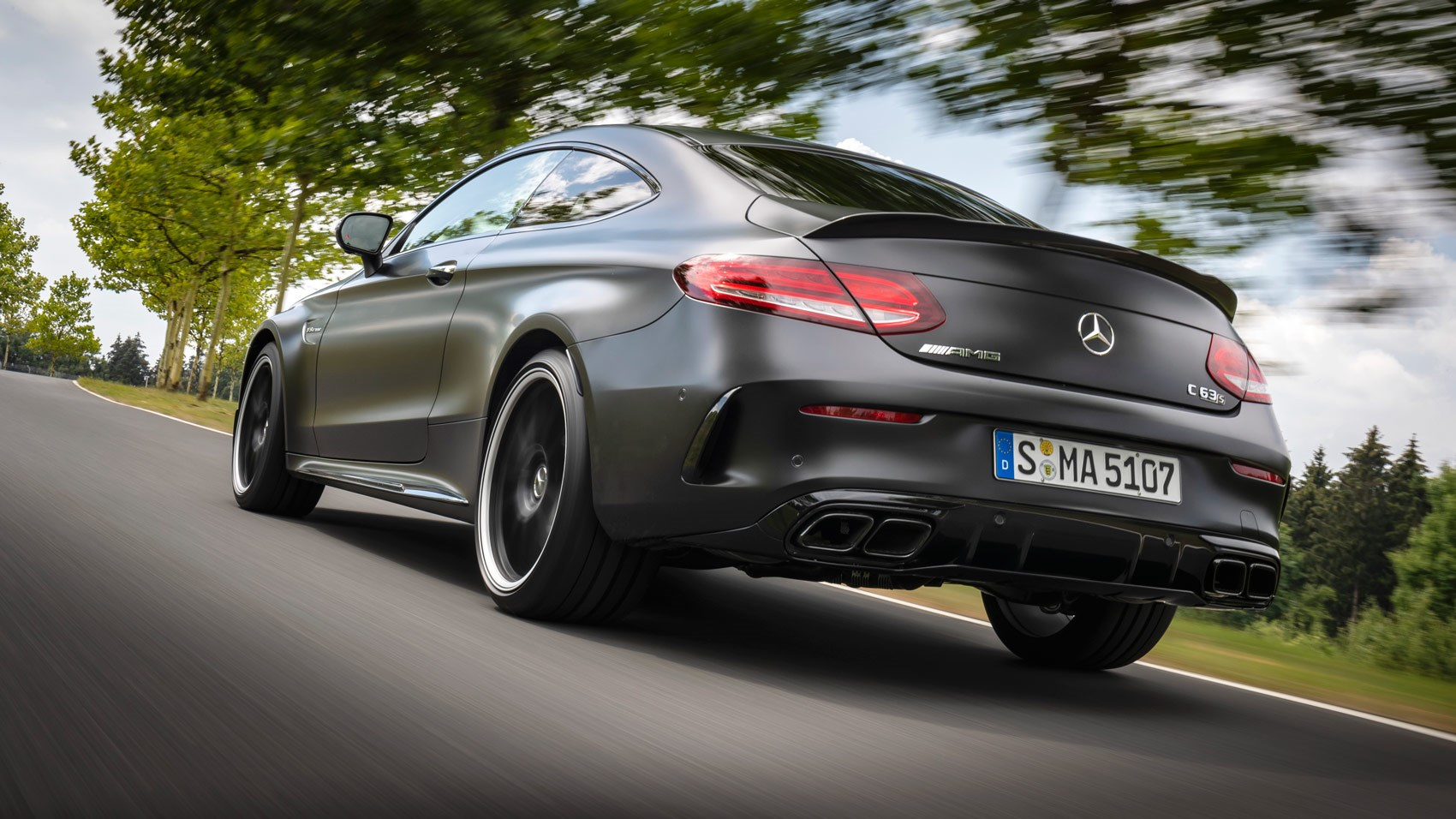 C63 S coupe rear tracking