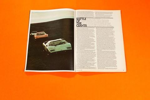 Porsche 911 Turbo v Ferrari Boxer v Lamborghini Countach, CAR magazine, January 1976