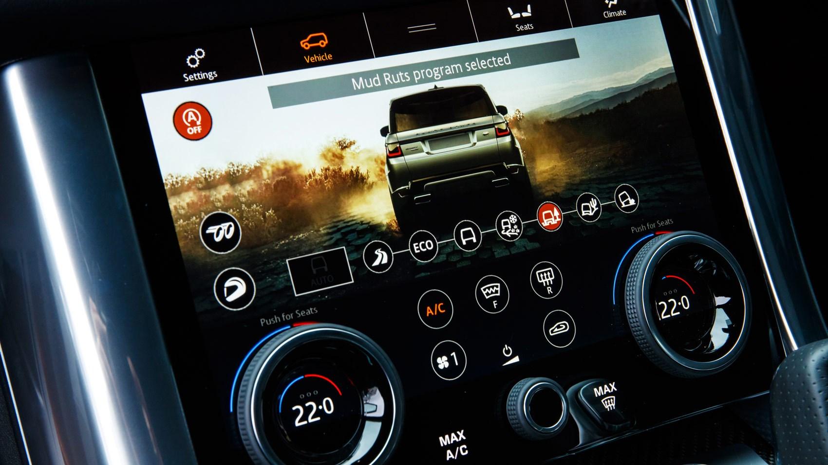 Range Rover Sport SVR 2018 terrain response