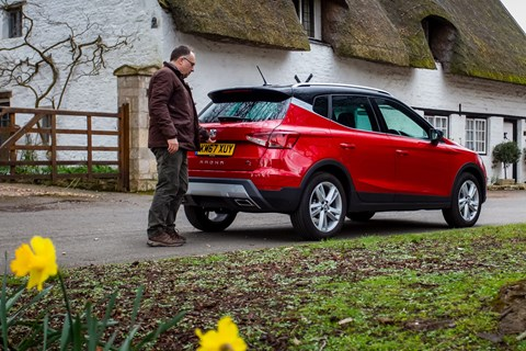 Colin Overland and the CAR magazine Seat Arona