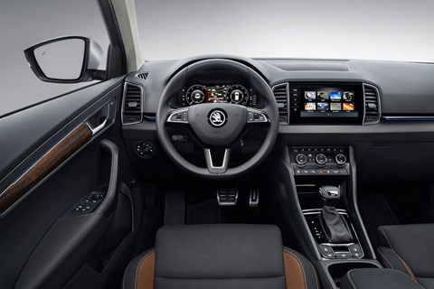 Skoda Karoq Scout interior and cabin