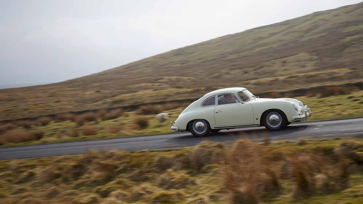 Porsche 356A from 1958, photographed for CAR magazine by John Wycherley