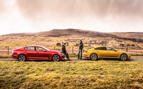 VW Arteon meets Kia Stinger