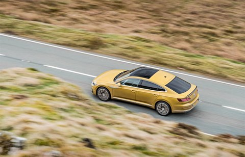 VW Arteon: not quite a panoramic sunroof