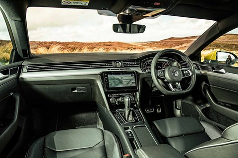 Our Volkswagen Arteon interior: ours is R-Line spec and jolly comfy