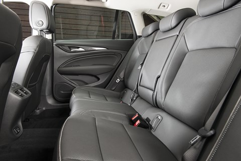 Inside the Vauxhall Insignia Country Tourer cabin: huge interior space and rear legroom!