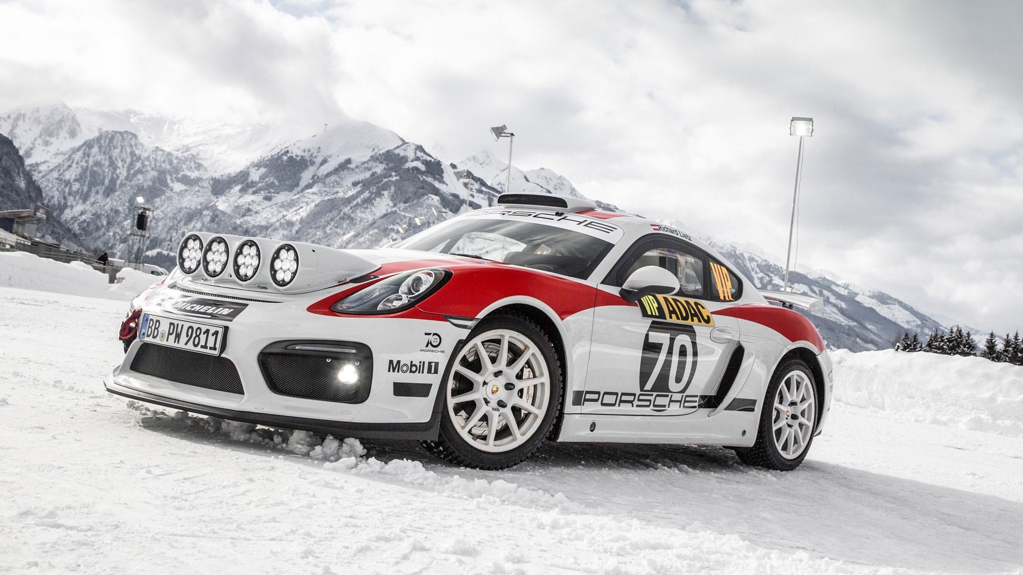 Porsche Cayman GT4 Clubsport rally car