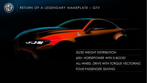 Alfa Romeo GTV confirmed in FCA presentation in summer 2018