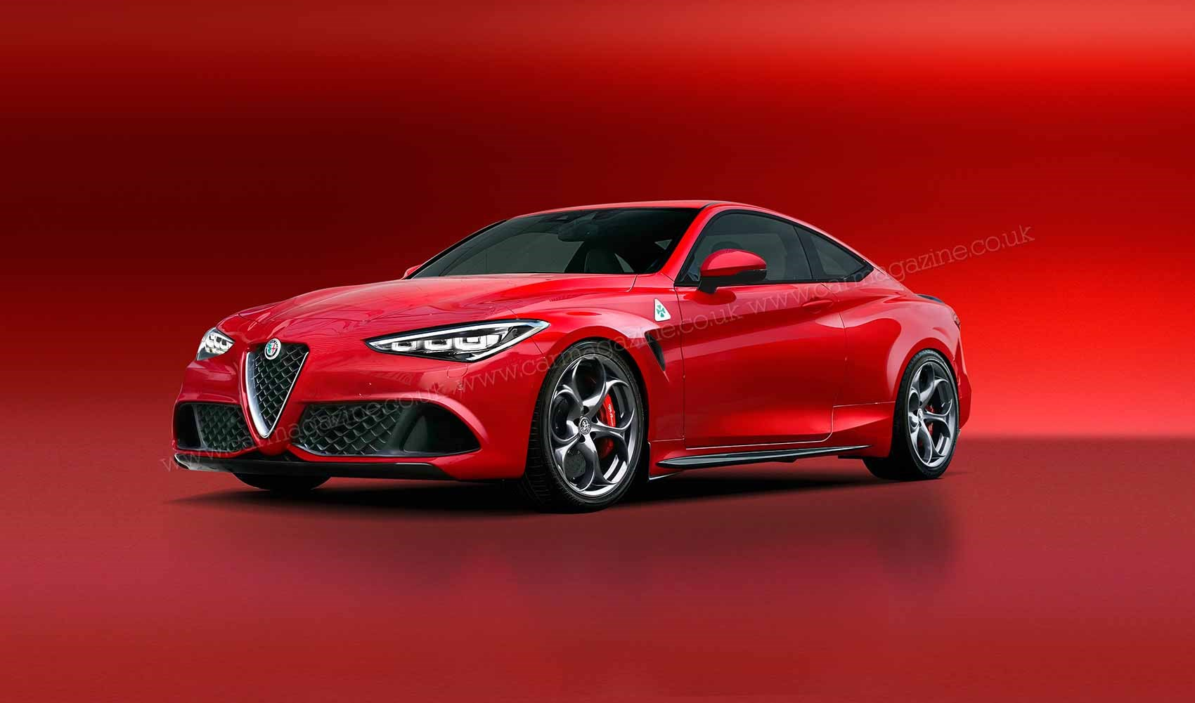 The New Alfa Romeo Gtv Coupe Depicted In Car S Artist Impression