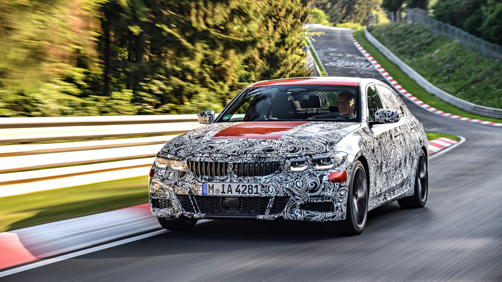 New G20 BMW 3-series at the Nurburgring