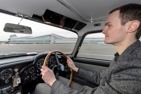 DB5 Goldfinger Jake driving