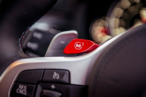 BMW M5 M button