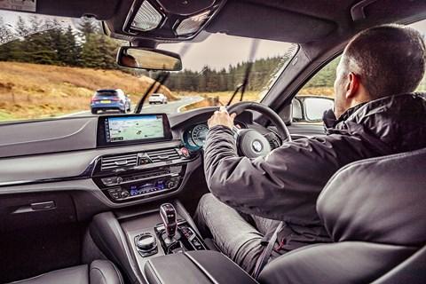 BMW M5 interior driving
