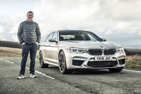 CAR magazine's Mark Walton and our BMW M5