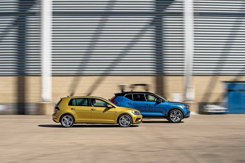 VW Golf chases Volvo XC40 in many ways