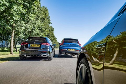 Triple test review: A-Class, Golf or XC40?