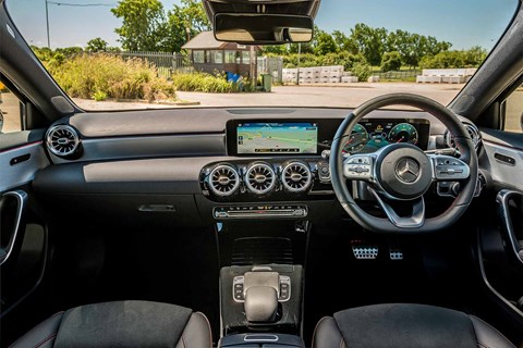 Mercedes A-Class interior and cabin: tech aplenty