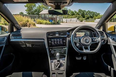VW Golf interior: a classy cabin