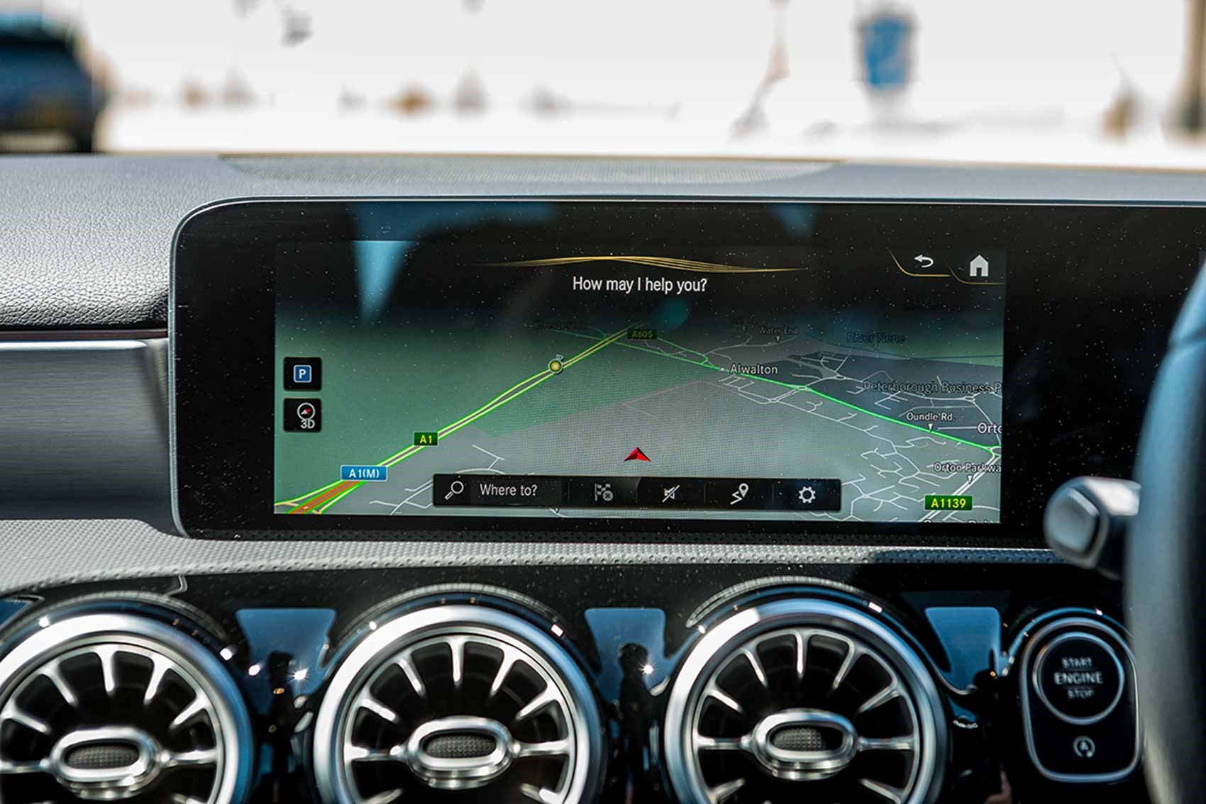 Mercedes A Class Vs Vw Golf Volvo Xc40 Triple Test Review Car Peugeot 308 Fuse Box Layout Augmented Reality And Clever Mapping Bit Of Game Changer For Mbux