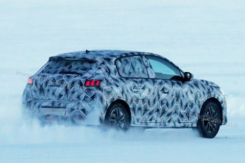 Peugeot 208 winter spy shot rear