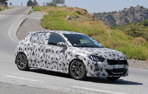 CAR magazine's new spy photos capture the new Peugeot 208