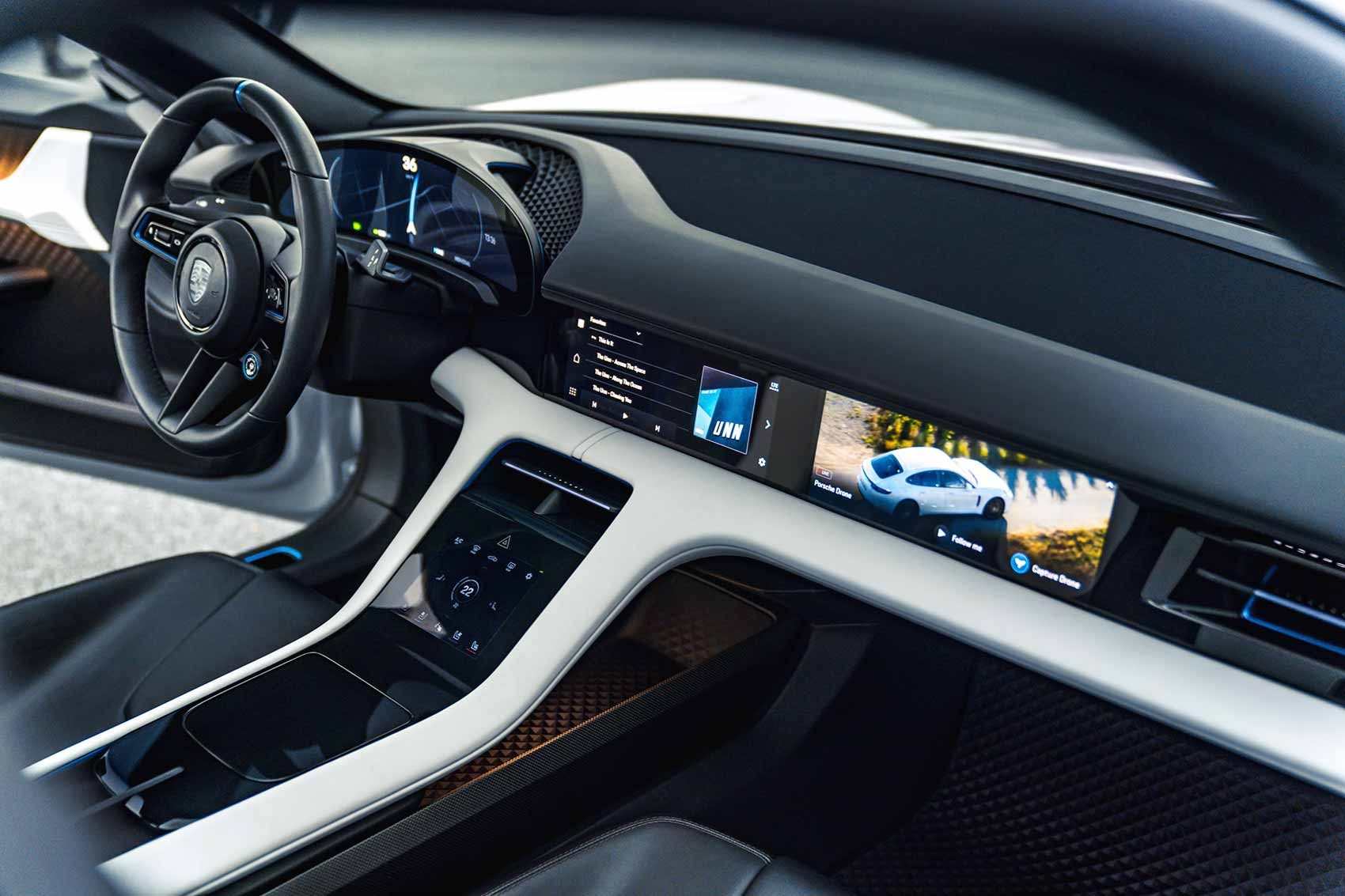 Porsche Mission E Cross Turismo interior