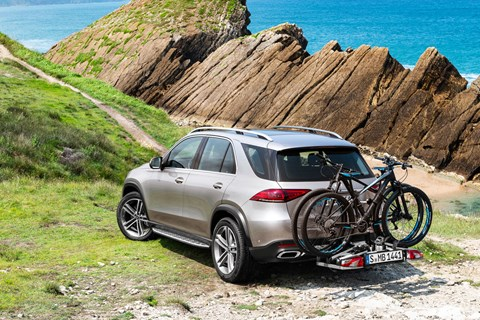 Mercedse GLE rear quarter bike rack