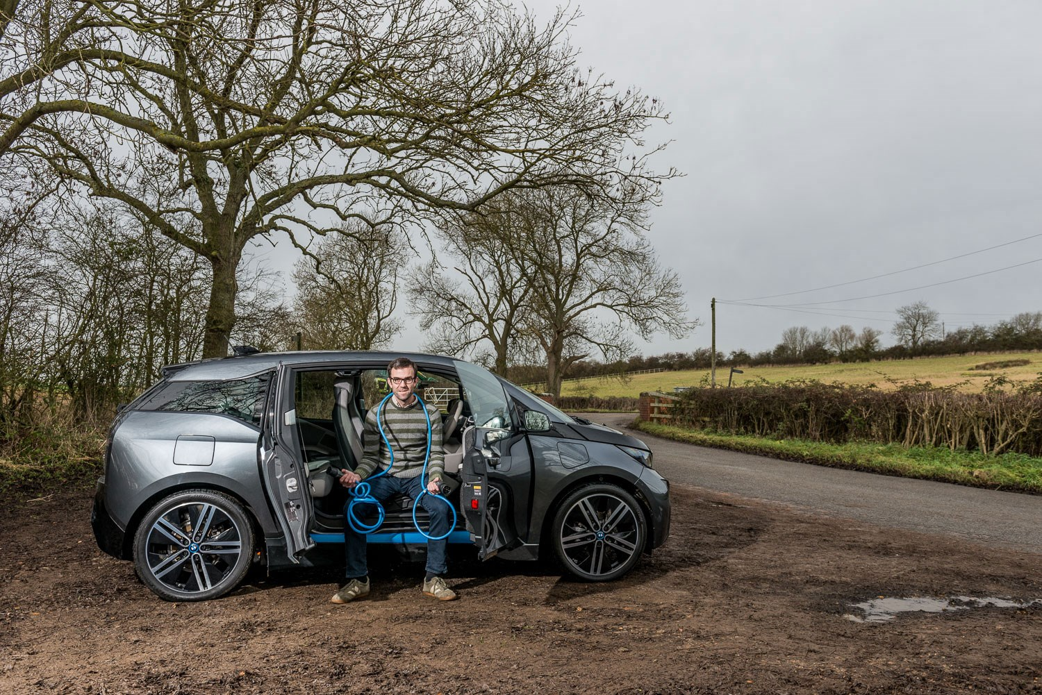 Car Magazine S Tim Pollard With His Bmw I3 Rex Plug In Hybrid Phev