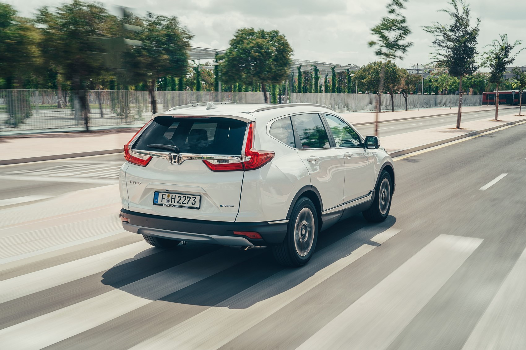 Honda CR-V Hybrid rear driving
