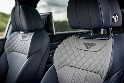 Quilted leather seats in our Bentley Bentayga V8