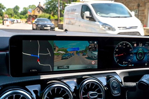 Mercedes MBUX and augmented reality sat-nav